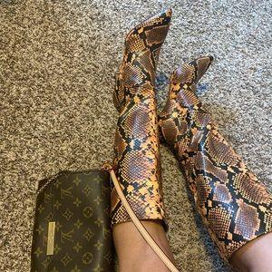 Steve Madden snake heel boots